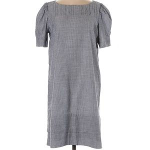 Gap 100% Cotton Gray Stripe Dress